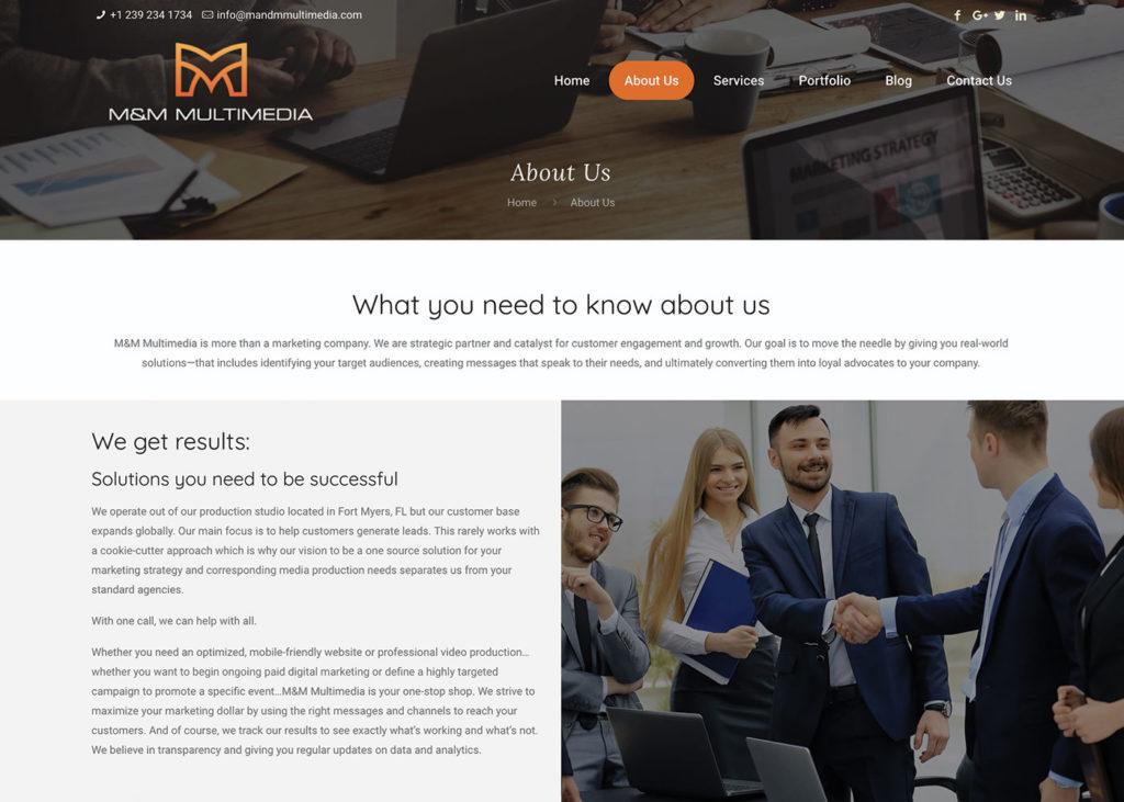 M&M multimedia websites