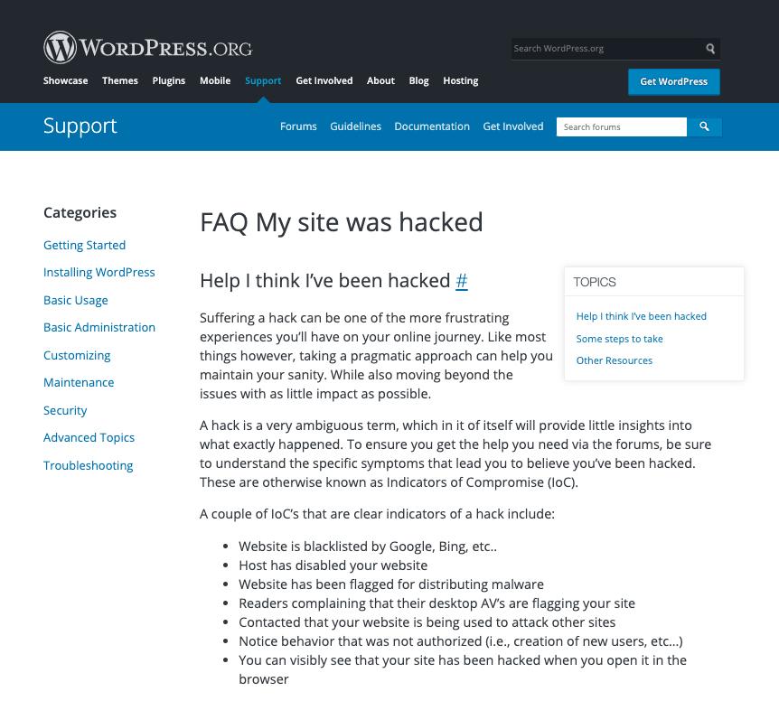WordPress.org FAQs