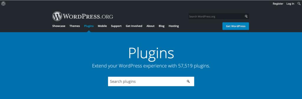 Plugins page wordpress