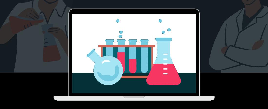 Illustration representing website load testing