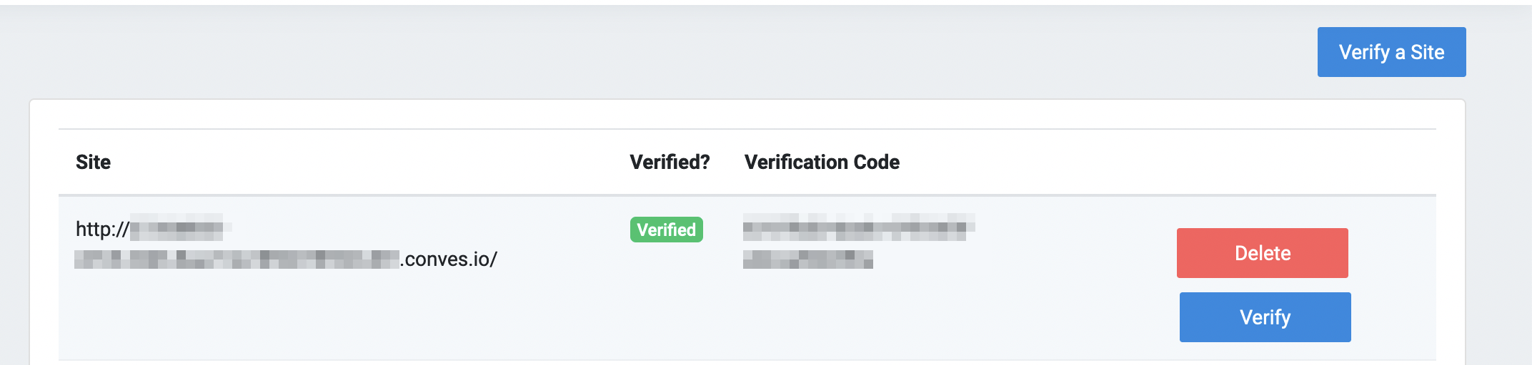 Screenshot showing how to verify ownership of a website in RoboSwarm