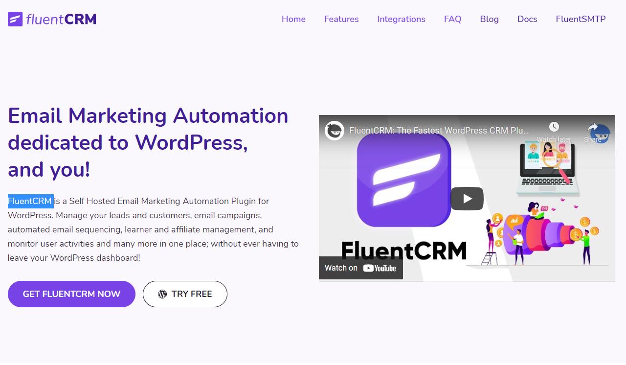 Screenshot of FluentCRM