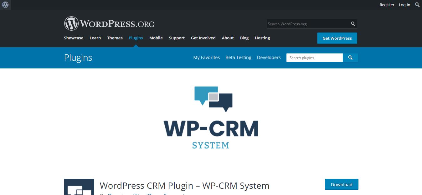 Screenshot of WordPress CRM WP-CRM System