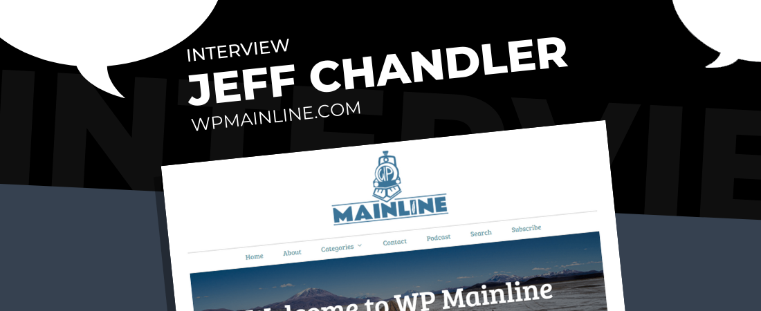 Featured image illustration for the Interview with Jeff Chandler of WP Mainline blog post