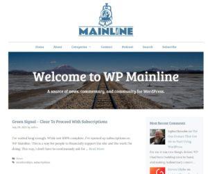 Screenshot of the Screenshot - WP Mainline website