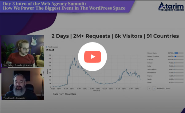 Screenshot of a video case study about Atarmi's WP Summit event